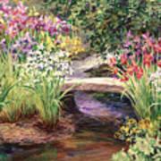 Vandusen Garden Iris Bridge Art Print