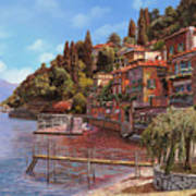 Varenna On Lake Como Art Print by Guido Borelli
