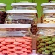 Various Cookies In Glass Jars Art Print