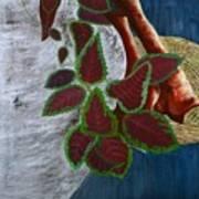 Vase And Denim Art Print