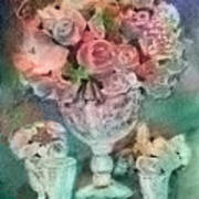 Vase Full Of Roses Art Print