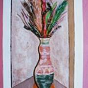 Vase In Cubby Hole Art Print