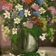 Vase Of Flowers #1 Art Print
