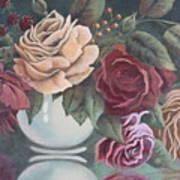 Vase Of Roses Art Print