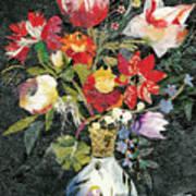 Vase With A Bird Art Print