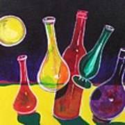 Vases In Space - Still Life 12 Art Print
