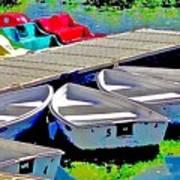 Boats Summer Vasona Park Art Print