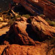 Vasquez Rocks And Stars Art Print