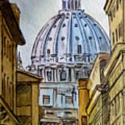 Vatican City Art Print by Irina Sztukowski