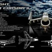 Vaught A-7a Corsair II Art Print