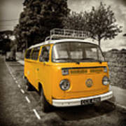 Vdub In Orange  Art Print