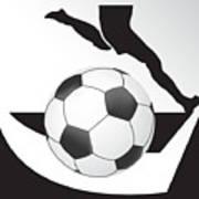 Vector Soccer Ball. Corner Kick Graphic Symbol Art Print