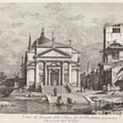 Veduta Del Prospetto Della Chiesa Del Ss. Redentore Art Print