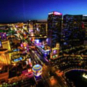Vegas At Dusk Art Print