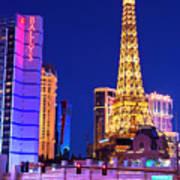 Vegas Strip At Night Art Print