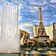 Vegas Water Show Art Print