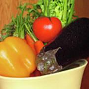 Vegetable Bowl Art Print