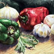 Vegetable Golly Wow Art Print