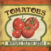 Veggie Seed Pack 3 Art Print by Debbie DeWitt