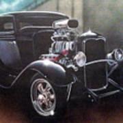 Vehicle- Black Hot Rod  Art Print