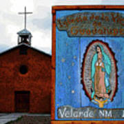 Velarde Church 1817 Art Print