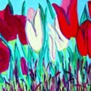 Velvet Tulips Art Print