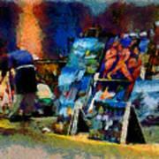 Vendedor De Pinturas Art Print