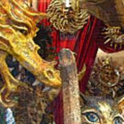 Venetian Animal Masks Art Print