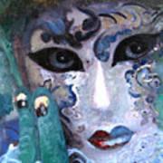 venetian carneval mask I Art Print