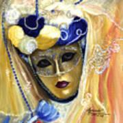 venetian carneval mask V Art Print