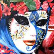 venetian carnevale mask III Art Print