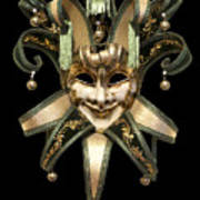 Venetian Mask Art Print by Fabrizio Troiani