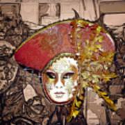 Venetian Mask Art Print