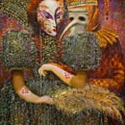 Venetian Masks Art Print