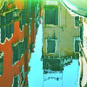 Venetian Mirror - Venice In Water Reflections Art Print