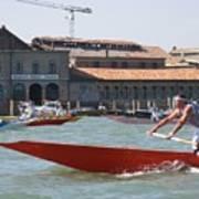 Venetian Rowing Racers Art Print