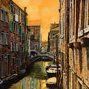 Venezia Al Tramonto Art Print