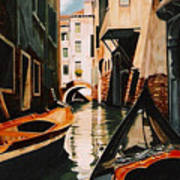 Venice - Gondola Ride Art Print