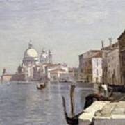 Venice - View Of Campo Della Carita Looking Towards The Dome Of The Salute Art Print
