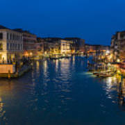 Venice And The Grand Canal In The Evening Art Print