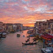Venice At Sunset - Italy Art Print