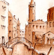 Venice Backwater Art Print