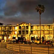 Venice Beach. Golden Sunset Art Print