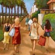 Venice Beach Promenade Art Print
