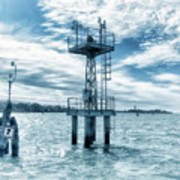 Venice - Buoy And Mooring In The Lagoon Art Print