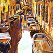 Venice Canal Art Print by David Lloyd Glover