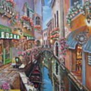 Venice Canal Reflections Art Print