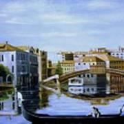 Venice Canal Ride Art Print