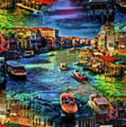 Venice Coming And Going Art Print