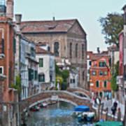 Venice Double Bridge Art Print
